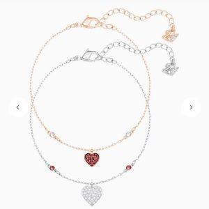 Swarovski Crystal Wishes Heart Bracelet Set